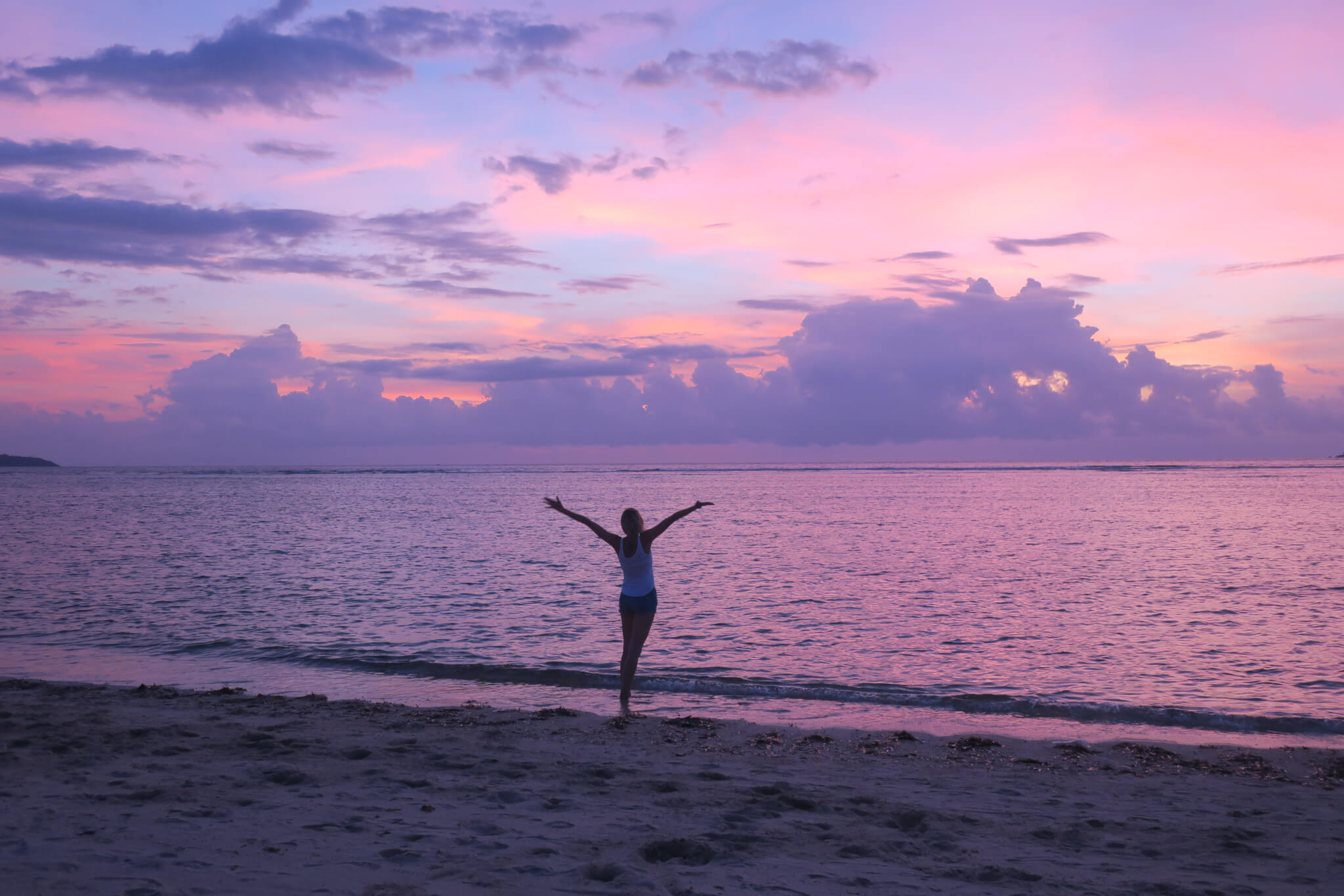 Zachód słońca na Gili Air