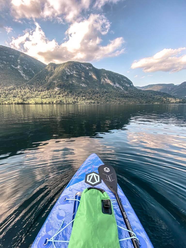 Jezioro Bohinj Slowenia SUP