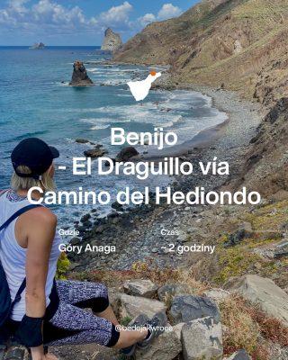 Lubicie hiking? 🤔 A taki z niekończącym się widokiem na ocean?? 😍 . Trasy w Parku Anaga to jest istny sztos i rollercoster zmysłów! 🙃 W stories zapraszam Was do oglądnięcia trasy 👣Benijo - El Draguillo vía Camino del Hediondo #Teneryfa . Generalnie wiesz co Cię czeka - że idziesz sobie na hiking po zboczu klifu z widokiem na ocean 🌊…... ale kiedy tam jesteś to widzisz 🤩ŻE JESTEŚ NA TRASIE NA ZBOCZU KLIFU Z PRZECUDNYM WIDOKIEM NA OCEAN!!! Nie wiem czy jestem w stanie bardziej to zobrazować słowami - ale dzięki bogu IG pozwala nam na format video i taki możecie zobaczyć w zapisanej relacji. . Na trasie pojawia się mnóstwo zalotnych kwiatuszków 🌼🌸🌺 bujne palmy 🌴 dostojne kaktusy 🌵 i 🌱inne nie do końca znane mi rośliny 🌱. Są też maki - mnóstwo maków, dosłownie wyrastają na drodze pod stopami 😍 Pierwszy odcinek dosyć wymagający, pozwala spalić zalecaną dzienną liczbę kalorii, a później już tylko sielanka i podziwianie i zachwycanie. Bo idąc w tym kierunku tj od El Draguillo do Benijo 👀 fotograficznych panoram nie ma końca! Pstrykasz foto i wydaje Ci się że to już jest to, a za kolejnym kamieniem, kaktusem czy skałą kadr kładzie Cię na kolana. Szał ochów i achów...Nie jesteś w stanie oderwać oczu od panoramicznych obrazów potarganego wybrzeża. 🥰 . Trasa rozpoczyna i kończy swoją pętlę przy najbardziej fotogenicznej plaży Benijo, na której to proponuje odpocząć i ochłodzić się w oceanie. . Dla tych, którym wciąż mało, zamiast powrót asfaltową drogą polecam spacer wzdłuż linii brzegowej. 👣 .   ⏳Czas około 2 godzin - nam zajęło dłużej z uwagi na zdjęcia i filmy.   🚶Długość 5 km   📍Gdzie Góry Anaga   💡Rodzaj trasy Pętla   🏋️Stopień trudności Łatwy   Warto zabrac 👙 🕶🥾📷💧🥖  Byliście tu już? Wybieracie się? Podzielcie się wrażeniami proszę 😍 _____________ #tenerife #hiking #hikingtenerife #bedejakwroce #canaryislands #wheretogo #trasy #trasygorskie #travelphotography #sroda #kreatywnaśroda #holidaypandemic #workation #workations #mai2021 #benijo #pfotooftheday #przewodnik #przewo