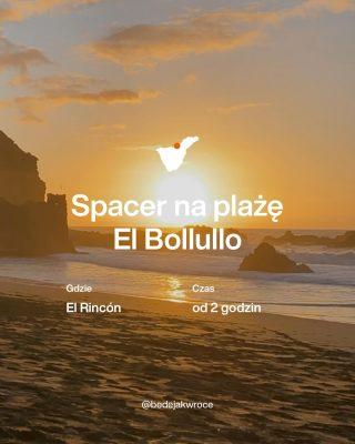 """No uwielbiam ją ☺️ Wszystkich plaż na Teneryfie jeszcze nie widziałam ale z pewnością El Bollullo jest moją ulubienicą. 😍 Jej naturalny urok zbałamucił mnie od pierwszego spojrzenia. 🥰 . Położona u podnóża klifu w regionie El Rincón (La Orotava), czaruje wyściełana mięciutkim, czarnym piaskiem oraz wyglądającymi z morza formacjami wulkanicznymi.  . To nie koniec - droga do niej wiedzie wśród soczystych plantacji bananów! 🍌🍌🍌Czy może być jeszcze lepiej? 🤔 . Owszem - Plaża El Bollullo jest wybitnym miejscem dla surferów, 🏄♀️ale trzeba uważać by ogromne grzbiety fal 🌊nie zepchnęły śmiałków na skały 😱 . 🚶Droga do plaży wymaga trochę wysiłku. Należy pokonać wiele schodów w dól, a na powrocie wiadomo w górę. Jeśli chcecie zrobić sobie mini przygodówkę to możecie dojść do plaży pieszo z Puerto de la Cruz. To około 30 - 45-minutowy spacer. Ale również można dojechać praktycznie pod same schody samochodem czyli na parking przy restauracji El Bollullo. To wymaga sporych umiejętności prowadzenia samochodu plus pokłady cierpliwość i na pewno też garść wyobrażni się przyda. Mówiąc prosto jest mega kręto 🙂 i droga jest właściwie dla jednego samochodu więc kiedy jest ładna pogoda i nie daj bóg weekend zabawa w """"moje - Twoje"""" samochodem -  przepuszczając się wzajemnie - potrafi trwać bez końca.  . Zapiszcie sobie tą mini przygodę - przyda się jak będziecie w okolicach Puerto ☺️  . Dobrego dnia . 📷 #elbollullo  __________ #teneryfa #teneryfa🌴 #plazeteneryfy #playaelbollullo #laorotava #sunsetphotography #sunset #polskieblogipodroznicze #wyspykanaryjskie #hiszpaniajestpiekna #kobietapoczterdziestce #przewodnik #ocean #beachvibes"""